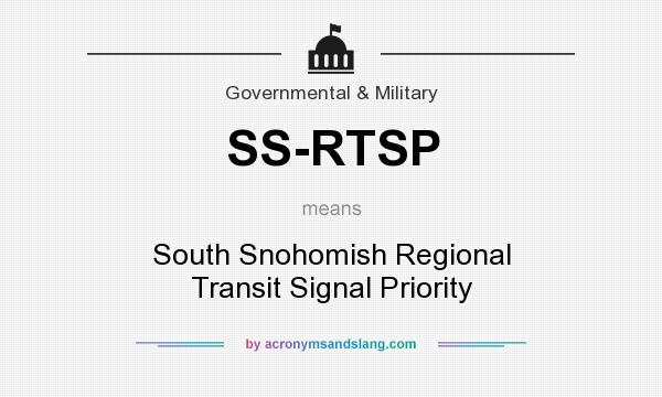 What does SS-RTSP mean? It stands for South Snohomish Regional Transit Signal Priority