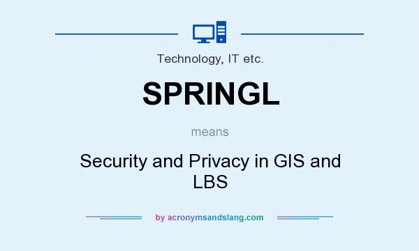 What does SPRINGL mean? It stands for Security and Privacy in GIS and LBS