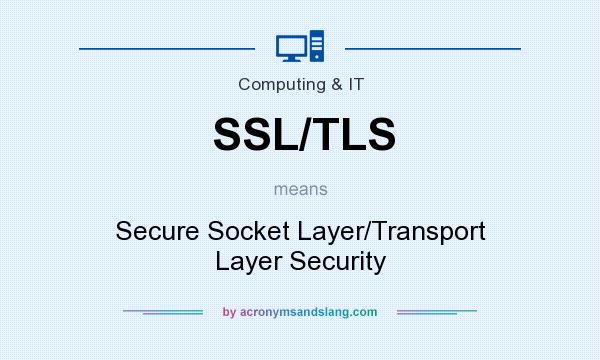 What does SSL/TLS mean? It stands for Secure Socket Layer/Transport Layer Security