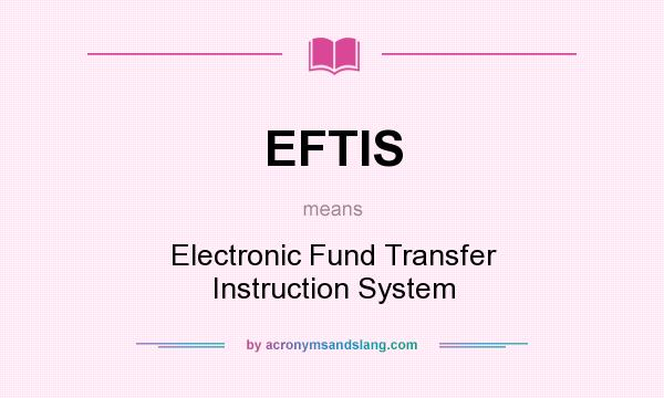 electronic fund transfer system