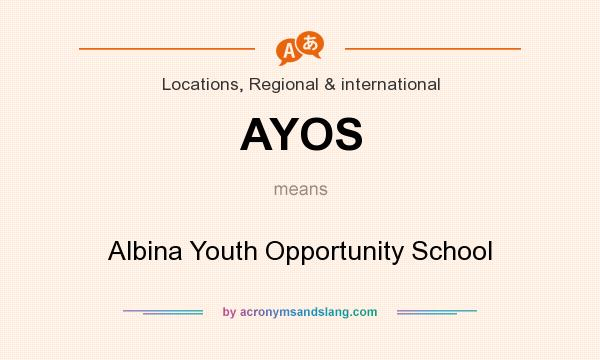 What does AYOS mean? It stands for Albina Youth Opportunity School