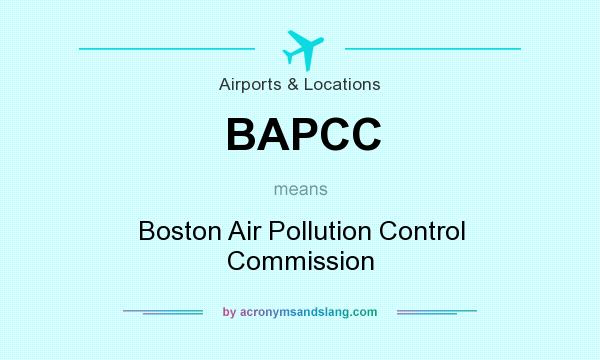 What does BAPCC mean? It stands for Boston Air Pollution Control Commission