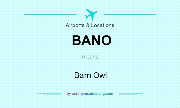 What does BANO mean? It stands for Barn Owl