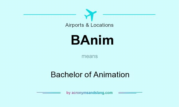 What does BAnim mean? It stands for Bachelor of Animation