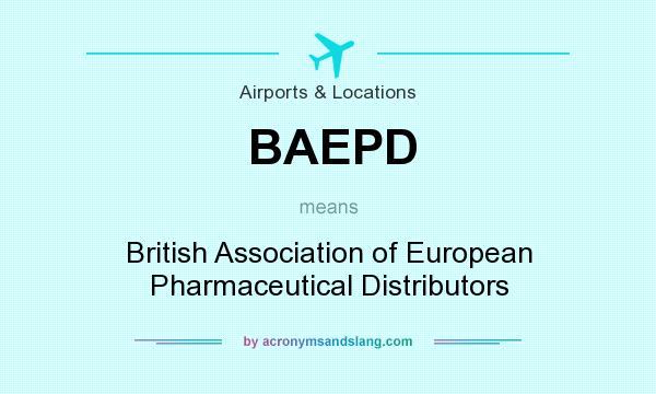 BAEPD - British Association of European Pharmaceutical