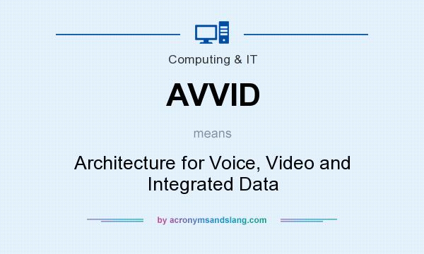 What does AVVID mean? It stands for Architecture for Voice, Video and Integrated Data