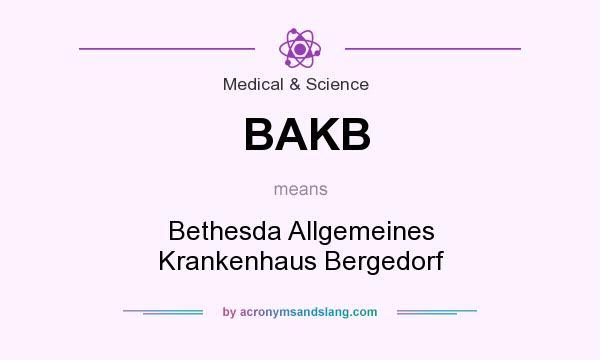 What does BAKB mean? It stands for Bethesda Allgemeines Krankenhaus Bergedorf