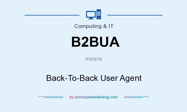 What does B2BUA mean? It stands for Back-To-Back User Agent