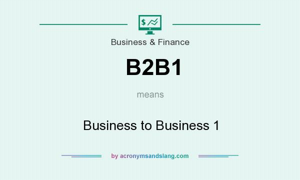 What does B2B1 mean? It stands for Business to Business 1