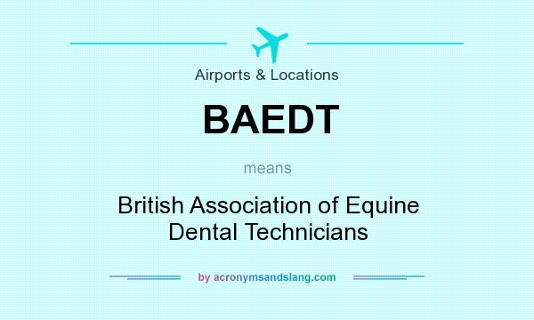 What does BAEDT mean? It stands for British Association of Equine Dental Technicians