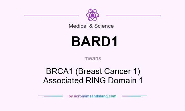What does BARD1 mean? It stands for BRCA1 (Breast Cancer 1) Associated RING Domain 1