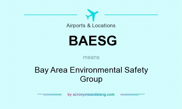 What does BAESG mean? It stands for Bay Area Environmental Safety Group