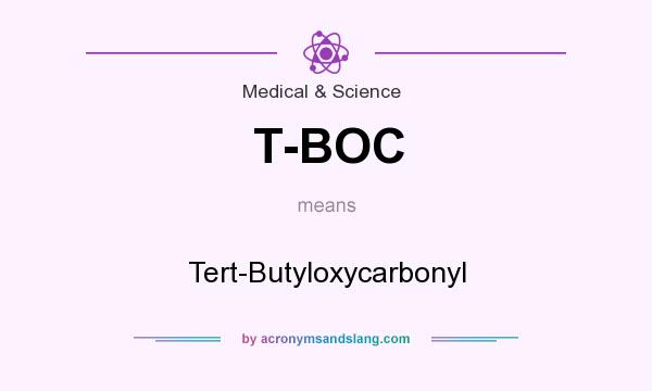 What does T-BOC mean? It stands for Tert-Butyloxycarbonyl