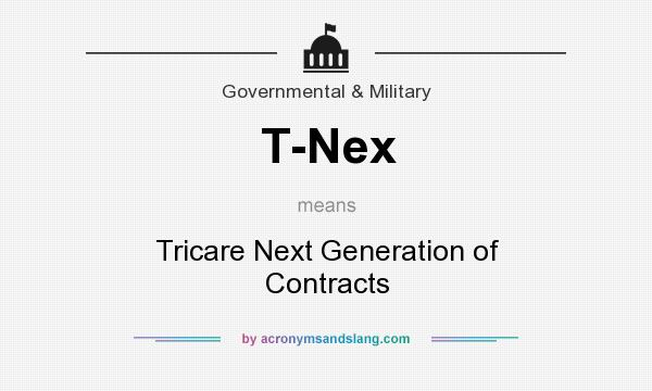 What does T-Nex mean? It stands for Tricare Next Generation of Contracts
