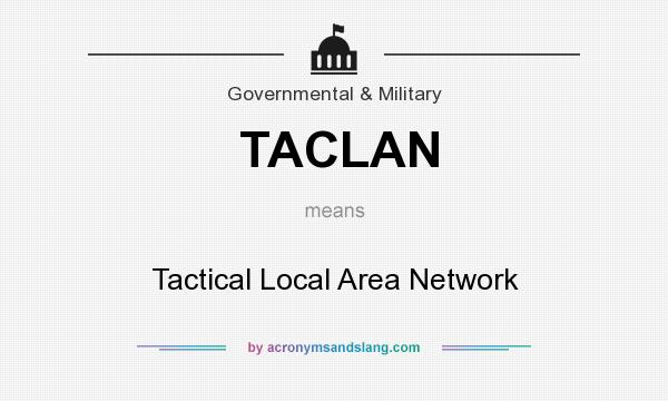 What does TACLAN mean? It stands for Tactical Local Area Network