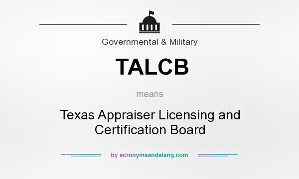 Texas appraisal licensing and certification board