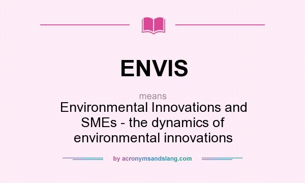 What does ENVIS mean? It stands for Environmental Innovations and SMEs - the dynamics of environmental innovations