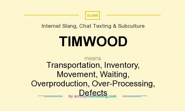 TIMWOOD - Transportation, Inventory, Movement, Waiting