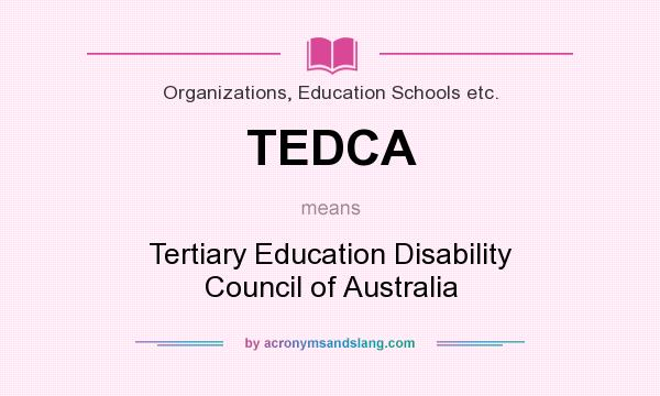 what does tedca mean? - definition of tedca - tedca stands for, Human Body