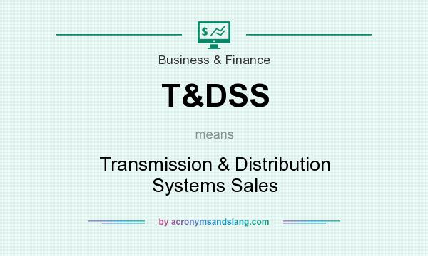 What does T&DSS mean? It stands for Transmission & Distribution Systems Sales