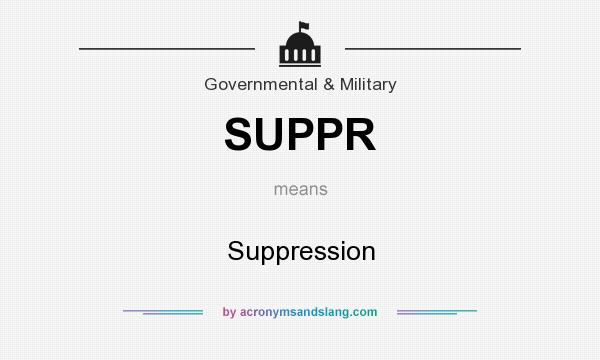 What does SUPPR mean? It stands for Suppression