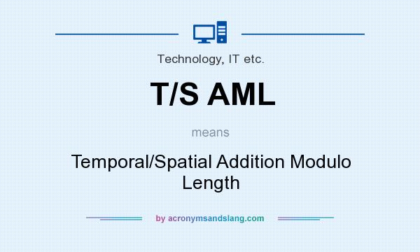 What does T/S AML mean? It stands for Temporal/Spatial Addition Modulo Length