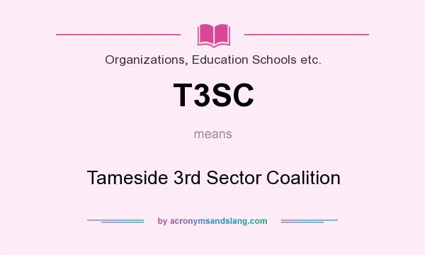 What does T3SC mean? It stands for Tameside 3rd Sector Coalition