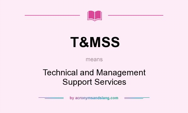 What does T&MSS mean? It stands for Technical and Management Support Services