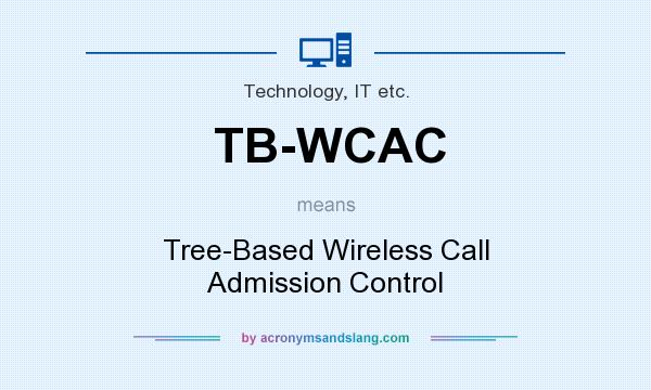 What does TB-WCAC mean? It stands for Tree-Based Wireless Call Admission Control