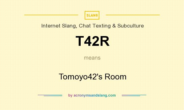 What does T42R mean? It stands for Tomoyo42`s Room