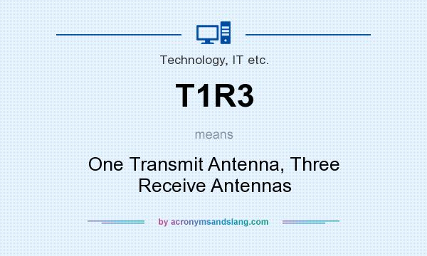 What does T1R3 mean? It stands for One Transmit Antenna, Three Receive Antennas