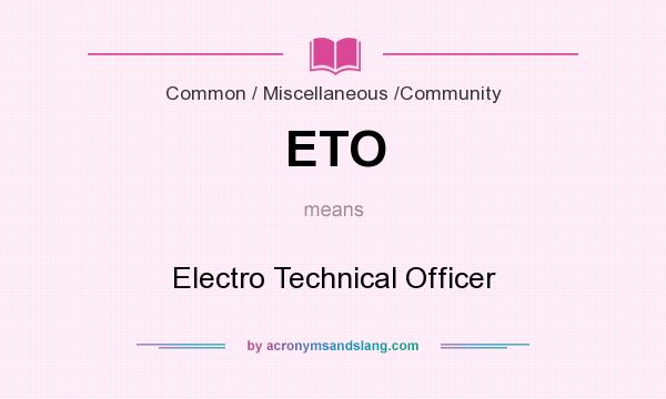 ETO - Electro Technical Officer in Common / Miscellaneous