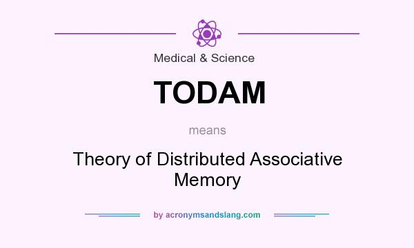 What does TODAM mean? It stands for Theory of Distributed Associative Memory