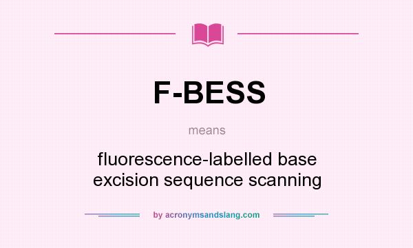 What does F-BESS mean? It stands for fluorescence-labelled base excision sequence scanning