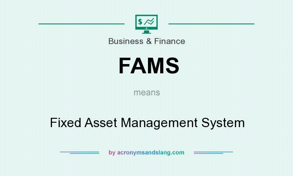 What does FAMS mean? It stands for Fixed Asset Management System