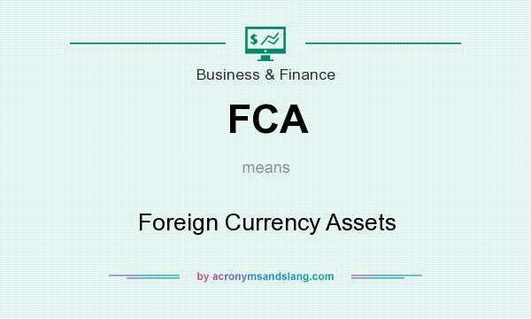 What does FCA mean? It stands for Foreign Currency Assets