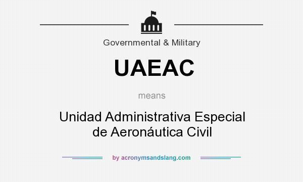 What does UAEAC mean? It stands for Unidad Administrativa Especial de Aeronáutica Civil