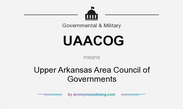 What does UAACOG mean? It stands for Upper Arkansas Area Council of Governments