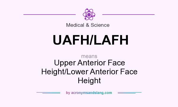 What does UAFH/LAFH mean? It stands for Upper Anterior Face Height/Lower Anterior Face Height