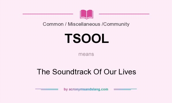 What does TSOOL mean? It stands for The Soundtrack Of Our Lives