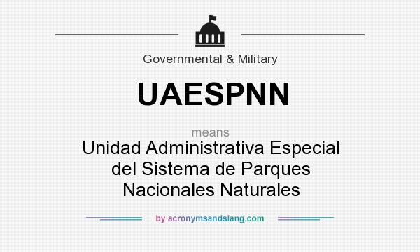 What does UAESPNN mean? It stands for Unidad Administrativa Especial del Sistema de Parques Nacionales Naturales