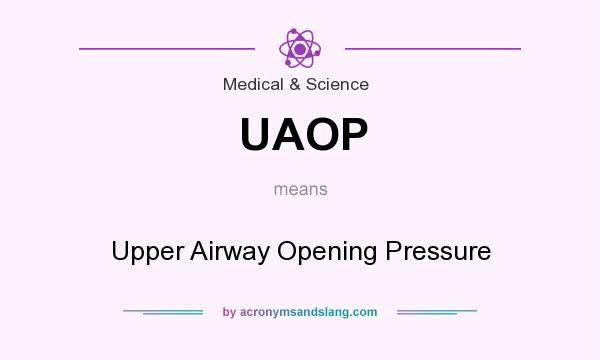 What does UAOP mean? It stands for Upper Airway Opening Pressure