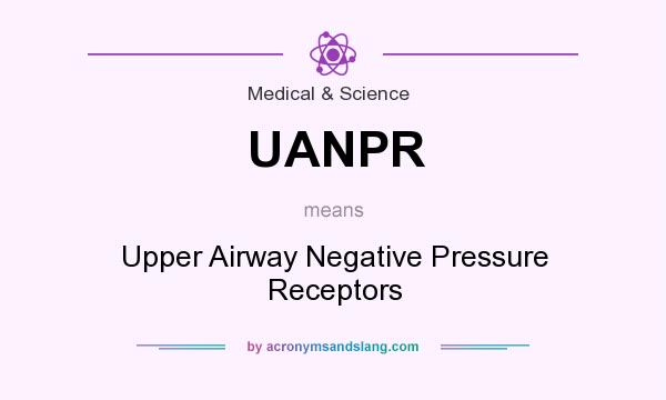What does UANPR mean? It stands for Upper Airway Negative Pressure Receptors