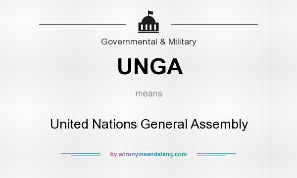 What does UNGA mean? It stands for United Nations General Assembly