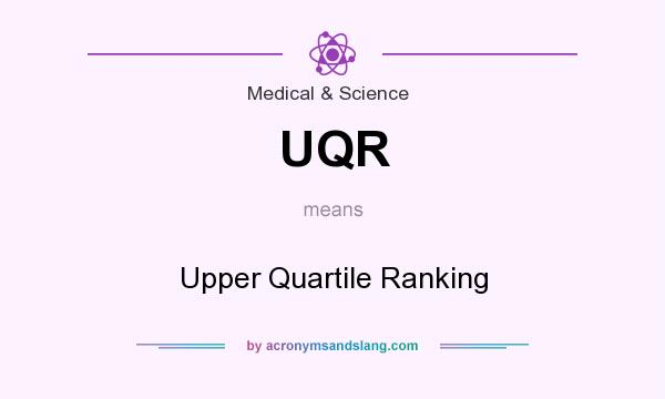 What does UQR mean? It stands for Upper Quartile Ranking