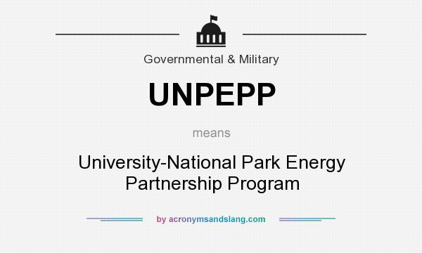 What does UNPEPP mean? It stands for University-National Park Energy Partnership Program