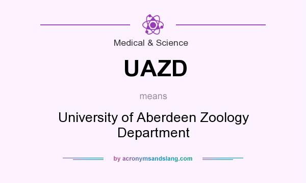 What does UAZD mean? It stands for University of Aberdeen Zoology Department