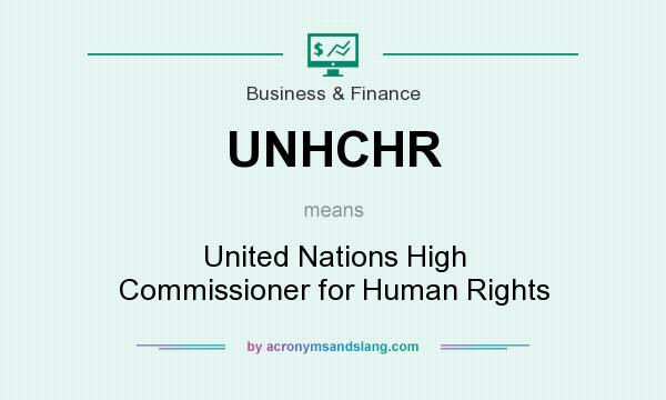 What does UNHCHR mean? It stands for United Nations High Commissioner for Human Rights
