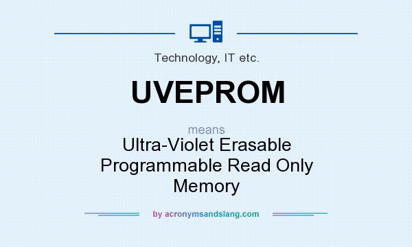 What does UVEPROM mean? It stands for Ultra-Violet Erasable Programmable Read Only Memory