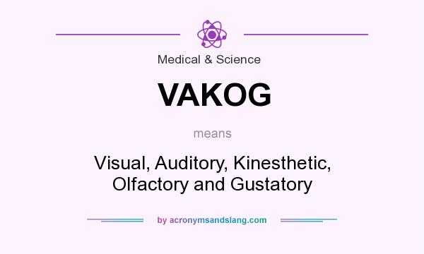 What does VAKOG mean? It stands for Visual, Auditory, Kinesthetic, Olfactory and Gustatory